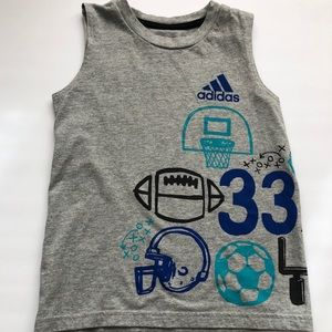 {preloved} Boys Gray Adidas Tank